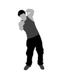 перста gesturing человек иллюстрация вектора