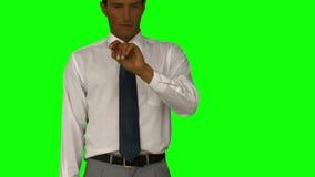 перст бизнесмена его указывать сток-видео