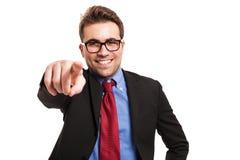 перст бизнесмена его указывая вы Стоковое фото RF