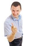 перст бизнесмена его указывая детеныши Стоковая Фотография