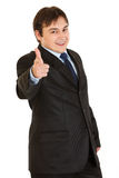 перст бизнесмена шикарный указывая усмехаться вы Стоковое фото RF
