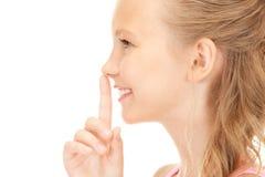Перст на губах Стоковая Фотография RF
