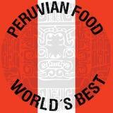 Перуанская иллюстрация еды Стоковое Изображение RF