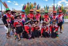 Перуанская одежда в Cusco стоковое фото