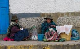 Перуанские женщины на улице Стоковая Фотография RF