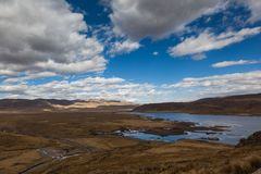 Перуанский андийский ландшафт стоковое изображение