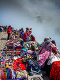 Перуанский каньон Перу colca туристов рынка Стоковое Изображение RF