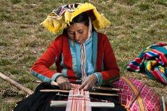 Перуанский крестьянский ремесленник Стоковая Фотография