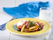 Перуанский фрай stir говядины, Lomo Saltado Стоковое Изображение
