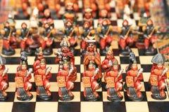 Перуанский handmade каменный комплект шахмат Стоковое фото RF