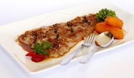 Перуанское блюдо: Сплавливание Tiradito Nikkei с японской едой стоковые фотографии rf