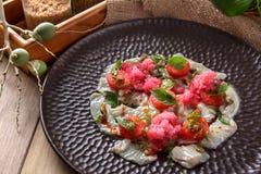 Перуанское свежее ceviche морепродуктов Стоковая Фотография