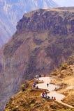 Перу, каньон Colca каньон wolds secend самый глубокий на 3191m Стоковые Фотографии RF