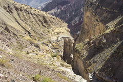 Перу, каньон Cotahuasi Каньон wolds самый глубокий Стоковая Фотография