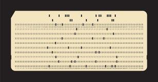 Перфораторная карта Винтажное хранение данных компьютера Стоковые Изображения RF
