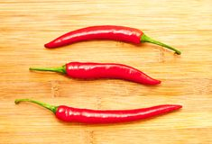 3 перца красных chili Стоковое Изображение RF