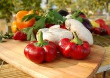 перцы грибов красные Стоковое Фото