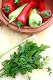 перцы зеленых цветов Стоковые Изображения RF