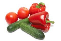 Перцы, томаты и огурцы Стоковое Фото