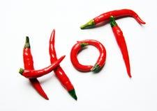 перцы чилей горячие красные Стоковое Изображение RF
