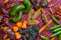 Перцы Чили Мексики стоковое фото
