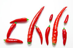 перцы chili горячие красные Стоковое Изображение RF