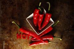 перцы chili горячие Стоковые Изображения