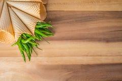 перцы chili зеленые горячие Стоковые Фото