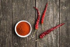 Перцы Chili и земные перцы chili Стоковые Фотографии RF