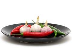 перцы garlics chili стоковая фотография