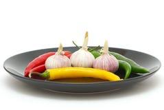 перцы garlics chili стоковые изображения rf