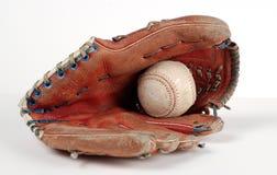 перчатка бейсбола шарика Стоковая Фотография RF