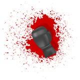 перчатка бокса одиночная Стоковая Фотография