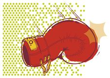 перчатка бокса Стоковое Фото
