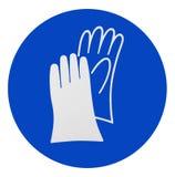 Перчатки безопасности носки Стоковое Изображение RF