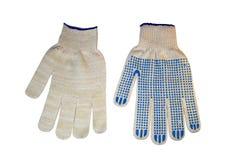 Перчатки белой ткани работая Стоковое фото RF