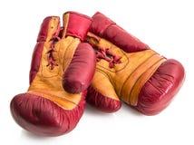 Перчатки бокса в белой предпосылке Стоковое Изображение