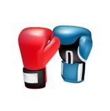 Перчатки бокса изолированные на белизне Бесплатная Иллюстрация