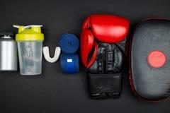 перчатки бокса красные Стоковая Фотография RF