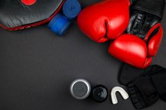 перчатки бокса красные Стоковые Изображения