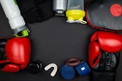 перчатки бокса красные Стоковое Фото