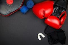 перчатки бокса красные Стоковая Фотография