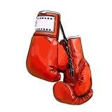 перчатки бокса красные иллюстрация штока