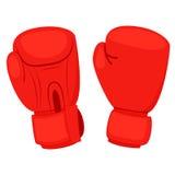перчатки бокса красные Стоковые Фотографии RF