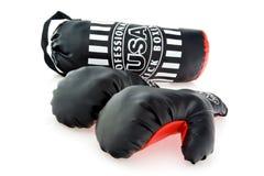 перчатки бокса мешка стоковые изображения rf