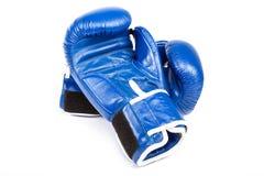 Перчатки бокса на белой предпосылке Стоковое Фото