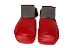 Перчатки бокса на белой предпосылке Стоковые Изображения