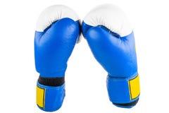 2 перчатки бокса на белой предпосылке Стоковая Фотография