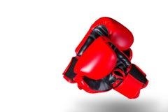 Перчатки бокса на белой предпосылке Стоковое фото RF