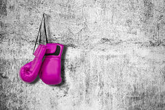 Перчатки бокса на стене стоковое изображение rf